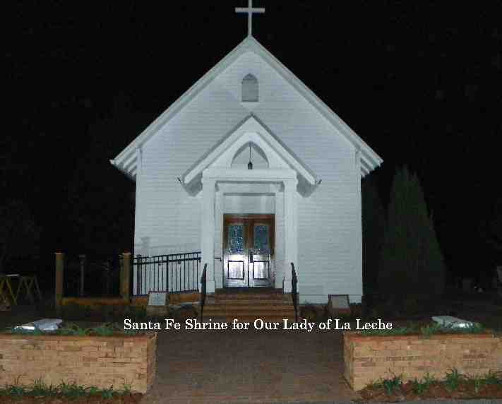 Lady of La Leche Shrine at night